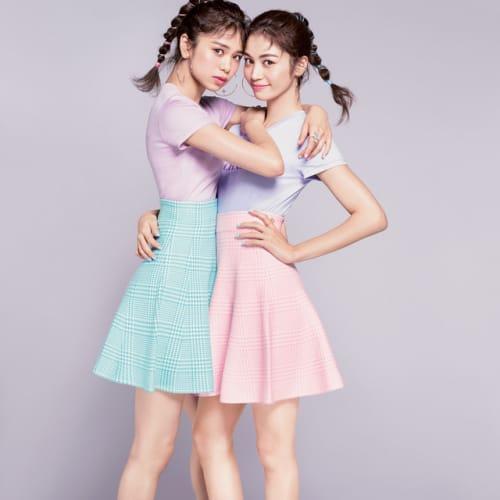 E-girlsツインタワーがCamcan表紙に!楓&はるおライクな細美脚の作り方♡のサムネイル画像